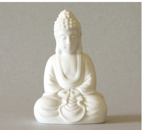 Seated Buddha Statue in Blanc de Chine porcelain
