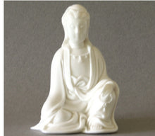 Load image into Gallery viewer, Seated Kwan Yin in Meditative Pose Figurine