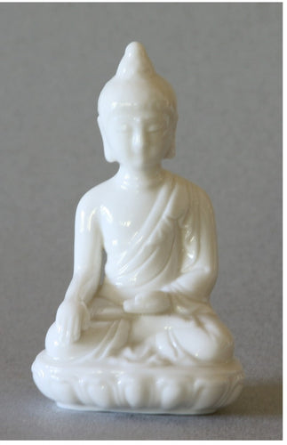 Seated Buddha Blanc de Chine Figurine 3.75 inch high
