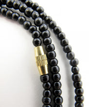 Load image into Gallery viewer, Ebony 3mm Bead Necklace 18 Inch