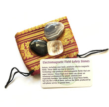 Load image into Gallery viewer, EMF Protection Crystals Bag of Black Tourmaline, Botswana Agate and Citrine