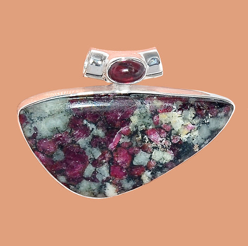 Eudialyte Pendant with Garnet Accent