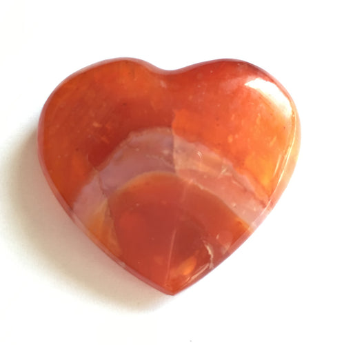 Carnelian Heart extra small 35mm wide