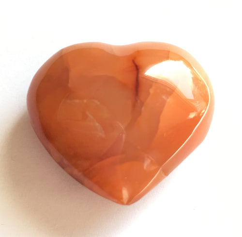 Carnelian Puffy Heart for happiness.  Extra small 33mm wide.