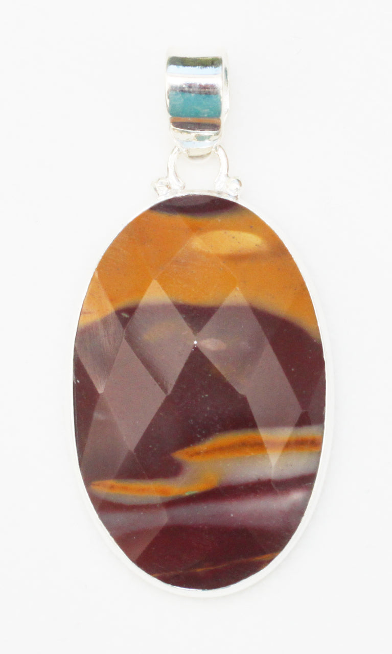 Mookaite Pendant in Sterling Silver oval frame