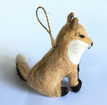 Load image into Gallery viewer, Fox Ornament with Jute String