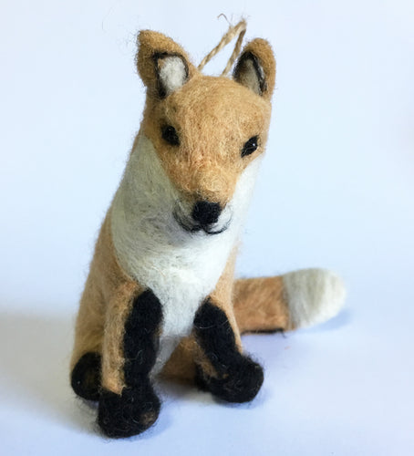 Fox Ornament with Jute String