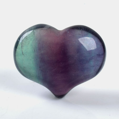 Fluorite Puffy Heart 1 inch wide