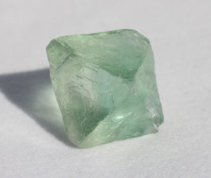 Fluorite Octahedron - slightly cloudy 1 inch size