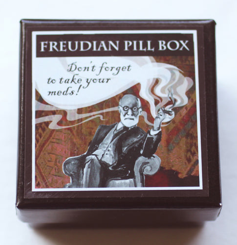 Freudian Pill Box: Don't forget to take your meds!