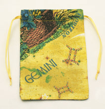 Load image into Gallery viewer, Gemini Zodiac Sign Cotton Drawstring Bag for Your Tarot Deck