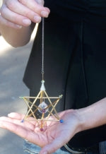 Load image into Gallery viewer, Merkaba Mobile for Greater Brain Accessibility: Sacred Geometry Star of David