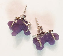 Load image into Gallery viewer, Grape Chalcedony aka Manakarra Botryoidai Sterling Silver Stud Earrings