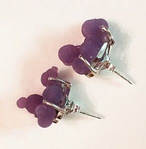 Grape Chalcedony aka Manakarra Botryoidai Sterling Silver Stud Earrings