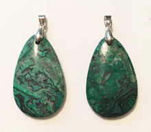 Load image into Gallery viewer, Green Leopard Skin Jasper Pendant with Sterling Silver Bail