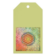 Load image into Gallery viewer, Gift Tag Green Flower of Life Ten-Pack