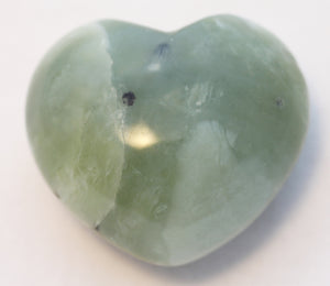 Green Jade Puffy Heart