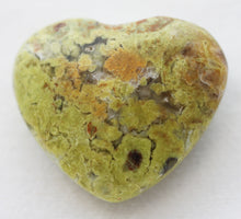 Load image into Gallery viewer, Green Opal Puffy Heart