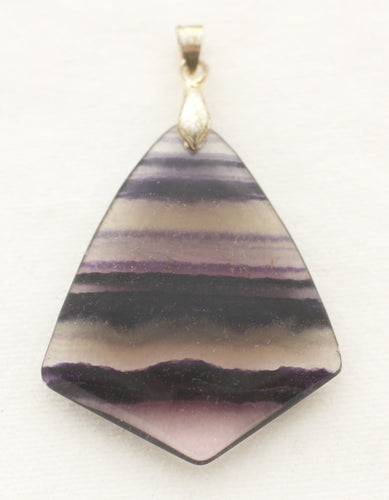 Fluorite Pendant in Flame Shape