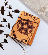 Load image into Gallery viewer, Magick Spellbook Suede Journal Pumpkin Color