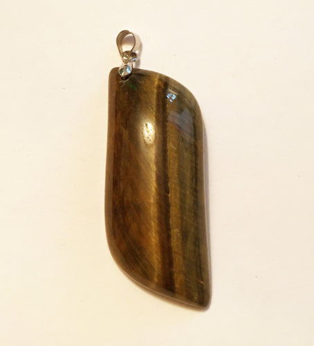 Hawks Eye or Blue Tigers Eye Pendant