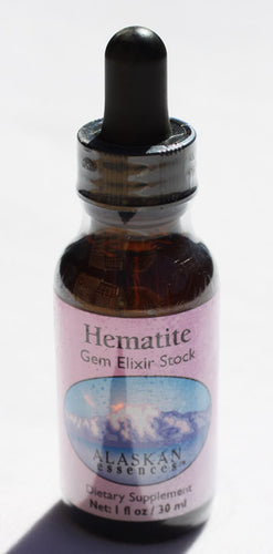 Hematite Gem Elixir 1 oz Alaskan Essences
