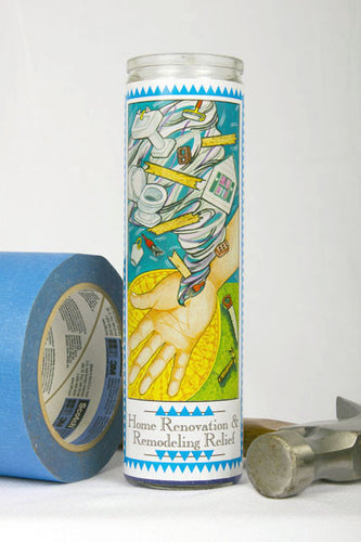Home Renovation & Remodeling Relief Prayer Candle