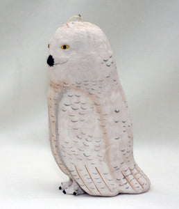 Snowy Owl Papier Mache Ornament from Cody Foster & Co