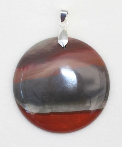 Succor Creek Jasper Pendant in round shape