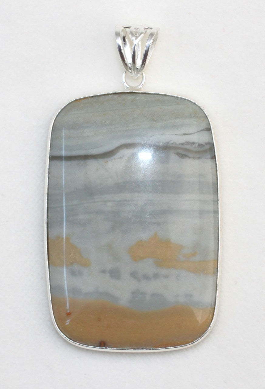 Succor Creek Jasper Pendant in Sterling Silver Frame