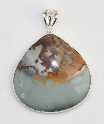 Succor Creek Jasper Pendant in Wide Pear Shape