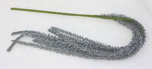 Flocked Fern Branch Decor - great for contemporary holiday setting