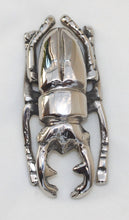 Load image into Gallery viewer, Scarab Beetle - silver-plated - symbol of rebirth and power