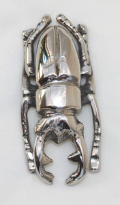 Scarab Beetle - silver-plated - symbol of rebirth and power