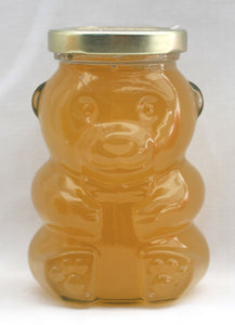 Raw, Unfiltered, Astragalus Honey from Oregon in Darling Glass Bear Jar