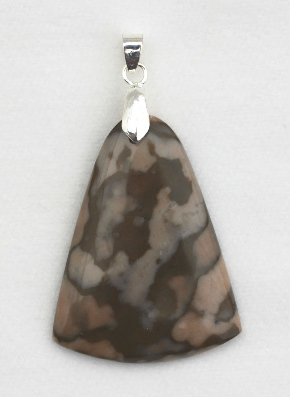 Map Jasper Pendant with Sterling Silver Bail