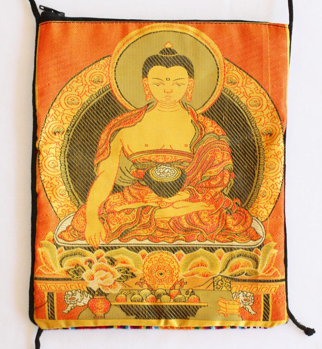 Tarot Bag with Golden Buddha Passport Bag