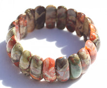 Load image into Gallery viewer, Spider Web Agate Picket Bead Bracelet for Growth, Fertility, and Prosperity