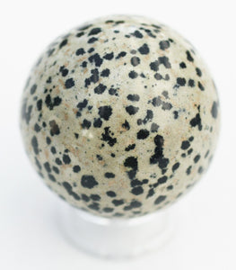 Dalmatian Jasper Sphere - Dispels Worry, Negativity and Nightmares