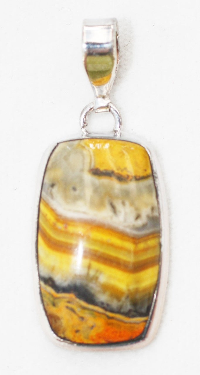 Bumblebee Jasper Pendant in barrel-shape