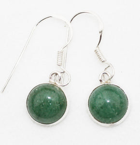 Aventurine Earrings in Sterling Silver