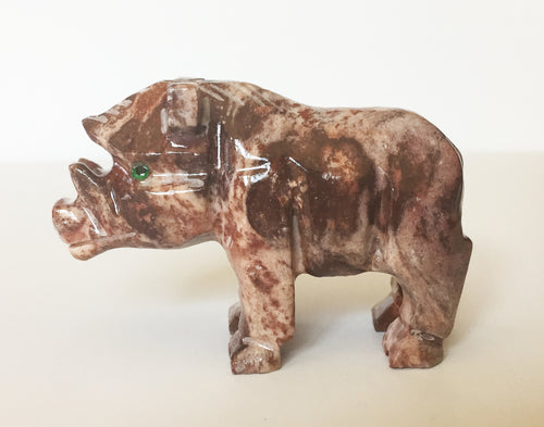 Year of the Pig!  Wild Pig Soapstone Carving