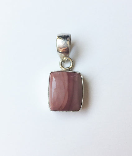 Imperial Jasper Square Pendant in Sterling Silver