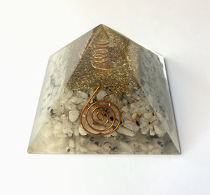Moonstone Orgonite Pyramid