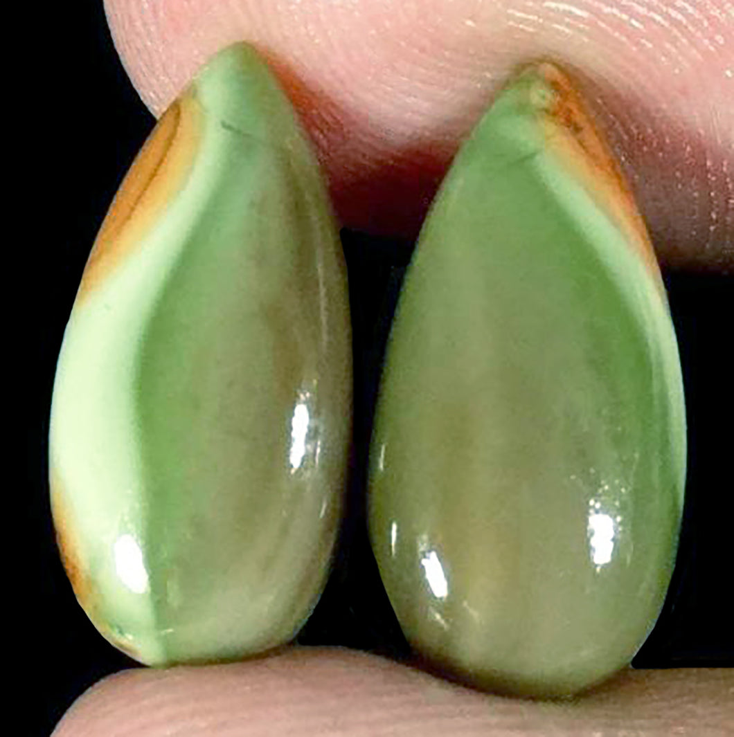 Green Imperial Jasper Matching Cabochons