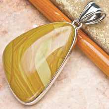 Load image into Gallery viewer, Bruneau Jasper Wing-Shaped Pendant in 18k White Gold Plated Sterling Silver Setting