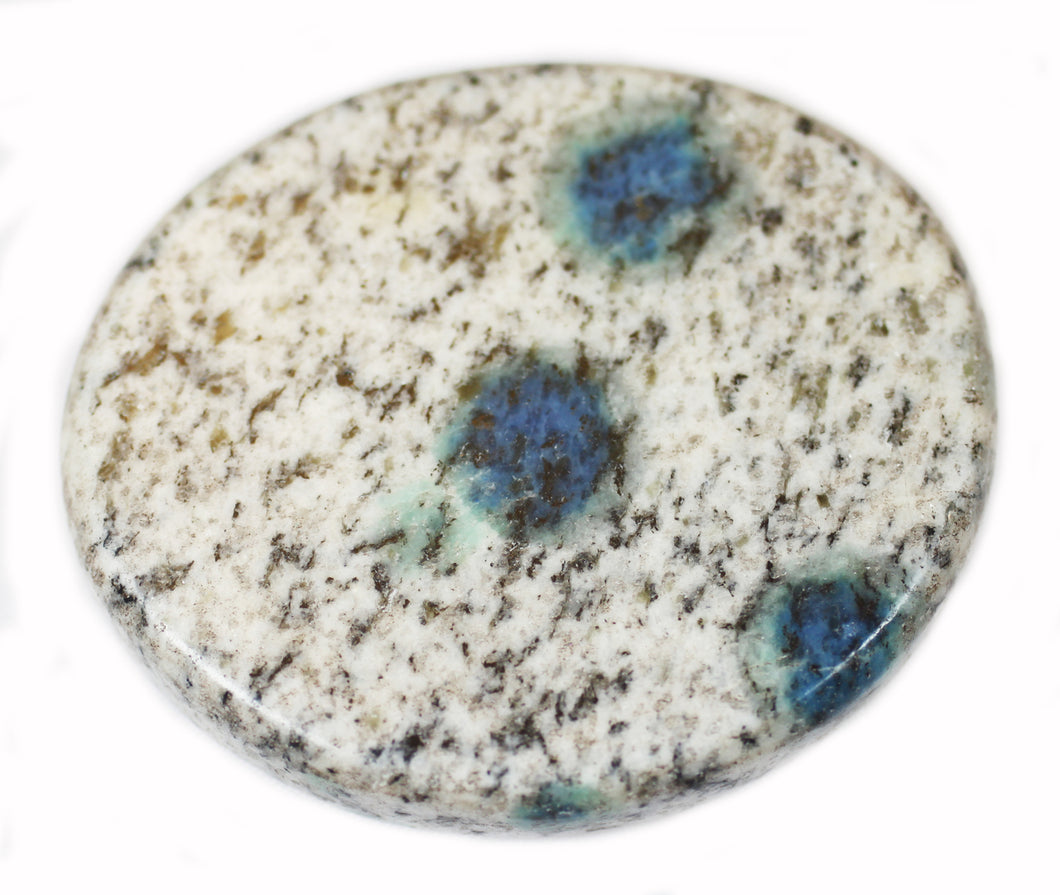 K2 Azurite in Granite Pocket Stone Disk