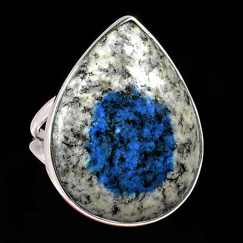 K2 Ring Azurite in Granite ring size 9