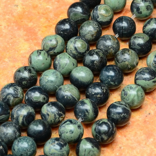 Kambaba Jasper Beads 8mm round beads aka Crocodile Jasper