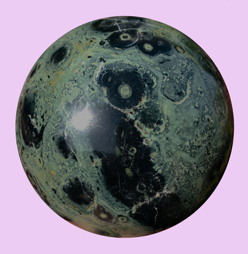Kambaba Jasper Sphere also known as Crocodile Jasper 90mm Sphere